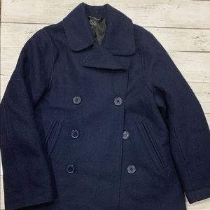 Little Marc Jacobs Peacock Coat Navy Outerwear